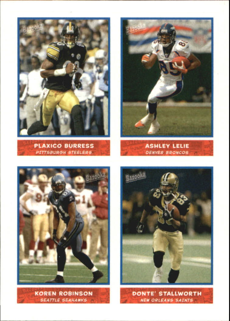 2004 Bazooka Stickers #37 Plaxico Burress/Ashley Lelie/Koren Robinson/Donte' Stallworth