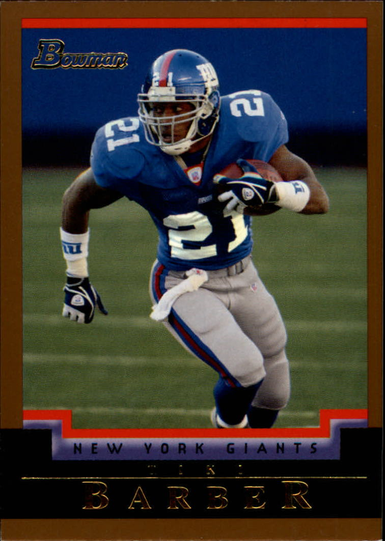 2004 Bowman Gold #78 Tiki Barber