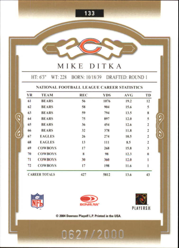 2004 Donruss Classics #133 Mike Ditka back image