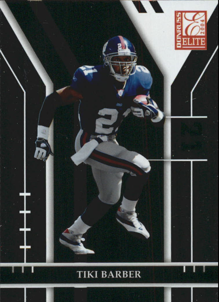 2004 Donruss Elite #66 Tiki Barber
