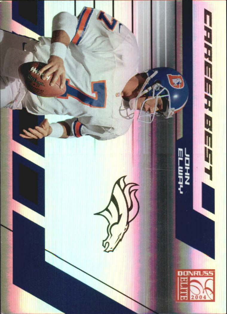 2004 Donruss Elite Career Best #CB9 John Elway