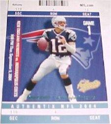 2004 Fleer Authentix #1 Tom Brady