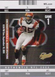 2004 Fleer Authentix #9 Chad Johnson