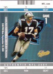 2004 Fleer Authentix #12 Jake Delhomme