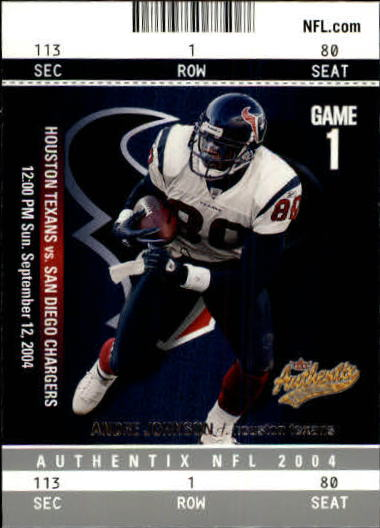 2004 Fleer Authentix #17 Andre Johnson
