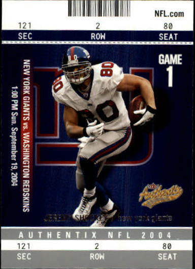 2004 Fleer Authentix #19 Jeremy Shockey