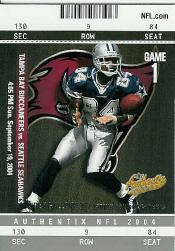 2004 Fleer Authentix #30 Joey Galloway front image