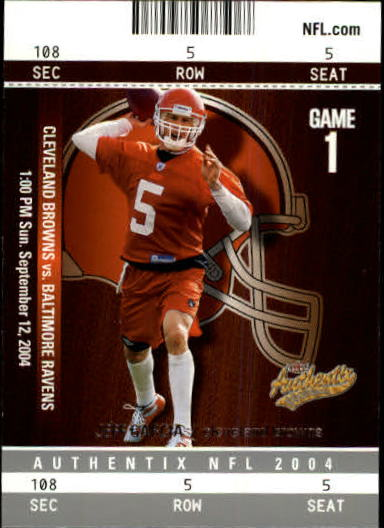 2004 Fleer Authentix #74 Jeff Garcia