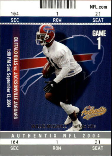2004 Fleer Authentix #79 Willis McGahee