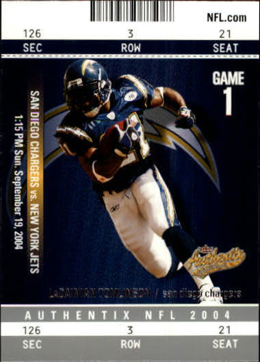 2004 Fleer Authentix #94 LaDainian Tomlinson