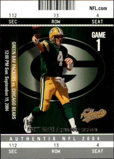 2004 Fleer Authentix #95 Brett Favre