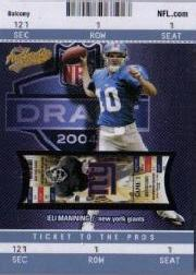 2004 Fleer Authentix Balcony Blue #103 Eli Manning