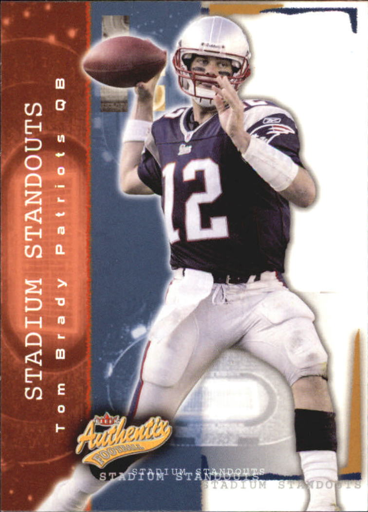 2004 Fleer Authentix Stadium Standouts #3SS Tom Brady