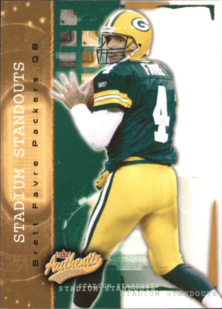 2004 Fleer Authentix Stadium Standouts #4SS Brett Favre