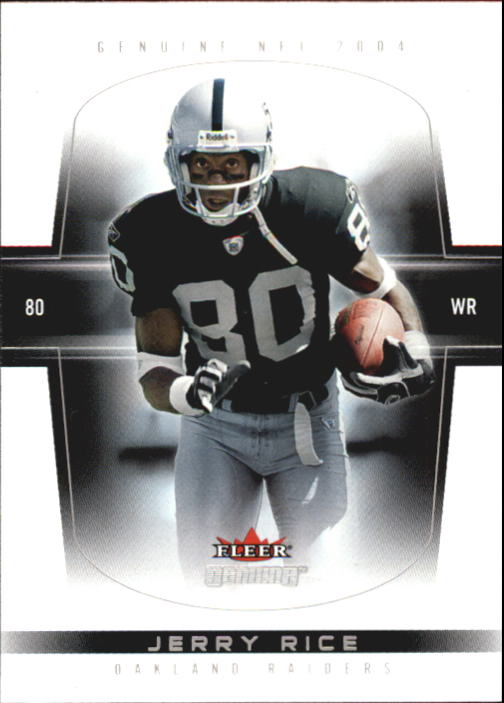 2004 Fleer Genuine #33 Jerry Rice front image