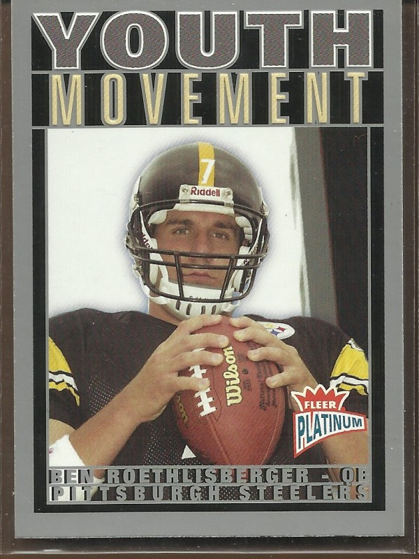 2004 Fleer Platinum Youth Movement #5YM Ben Roethlisberger