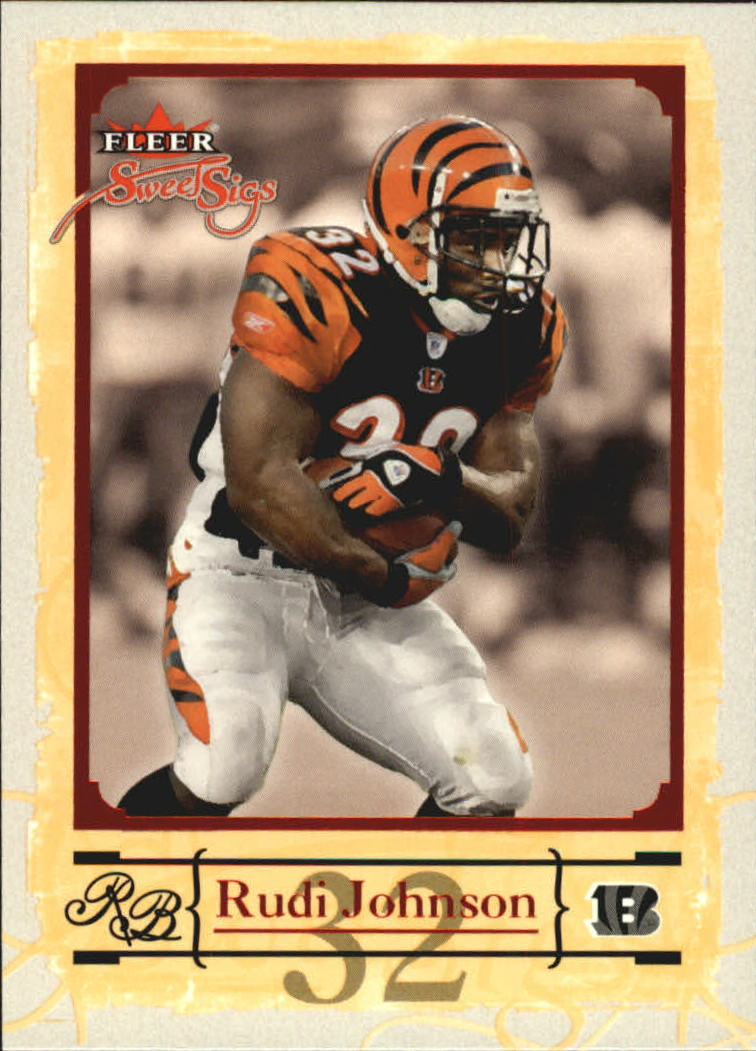 2004 Fleer Sweet Sigs #56 Rudi Johnson