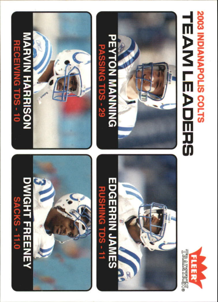2004 Fleer Tradition #5 Peyton Manning TL/Edgerrin James/Marvin Harrison/Dwight Freeney
