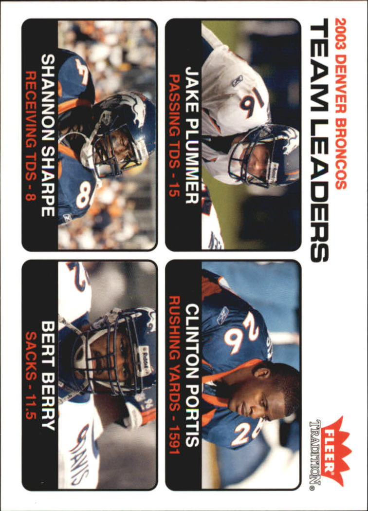 2004 Fleer Tradition #10 Jake Plummer TL/Clinton Portis/Shannon Sharpe/Bertrand Berry
