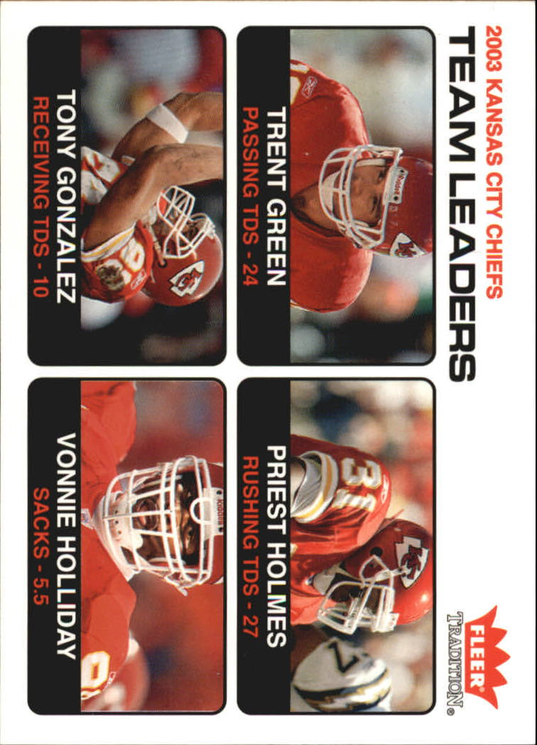 2004 Fleer Tradition #11 Trent Green TL/Priest Holmes/Tony Gonzalez/Vonnie Holliday