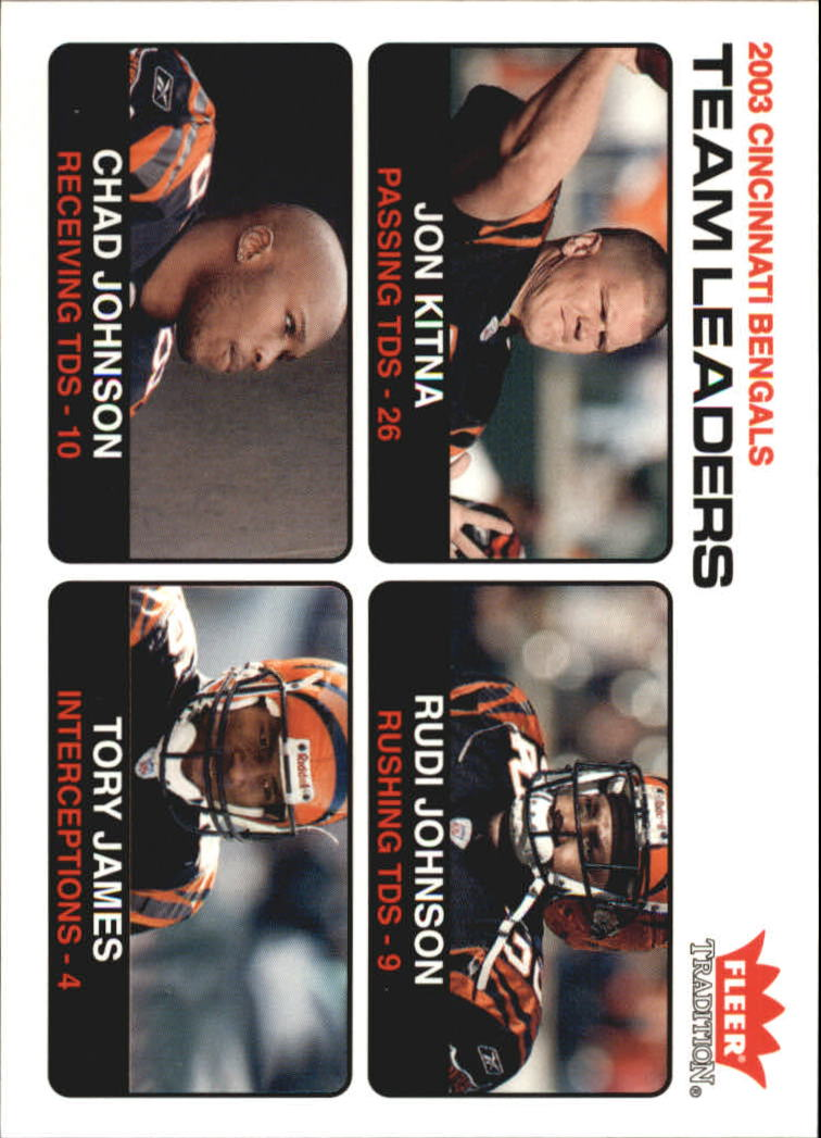 2004 Fleer Tradition #15 Jon Kitna TL/Rudi Johnson/Chad Johnson/Tory James