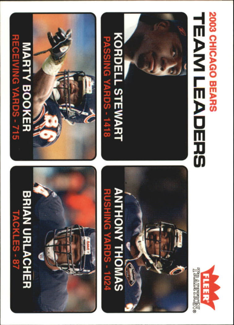 2004 Fleer Tradition #23 Kordell Stewart TL/Anthony Thomas/Marty Booker/Brian Urlacher