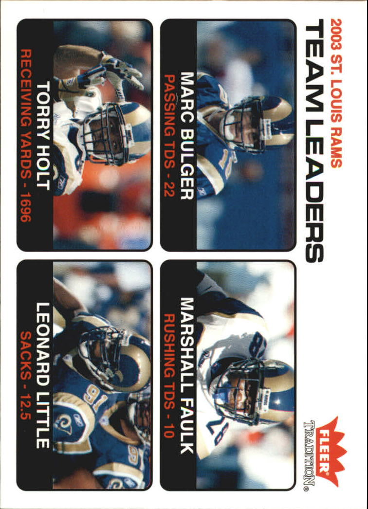 2004 Fleer Tradition #26 Marc Bulger TL/Marshall Faulk/Torry Holt/Leonard Little