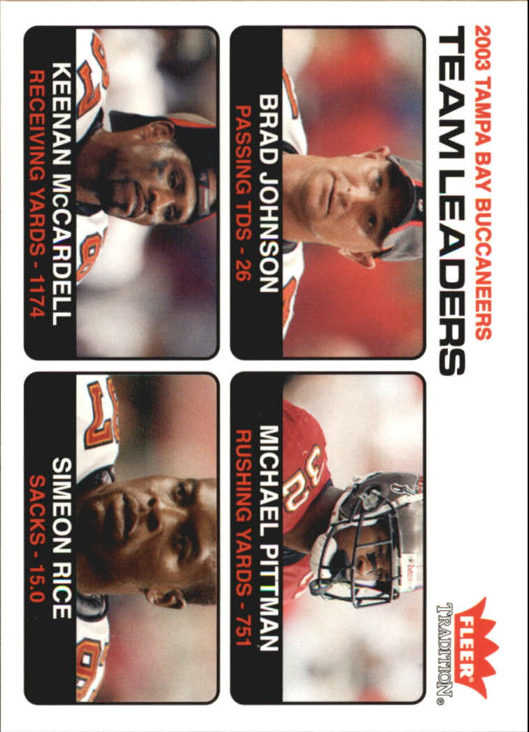 2004 Fleer Tradition #30 Brad Johnson TL/Michael Pittman/Keenan McCardell/Simeon Rice