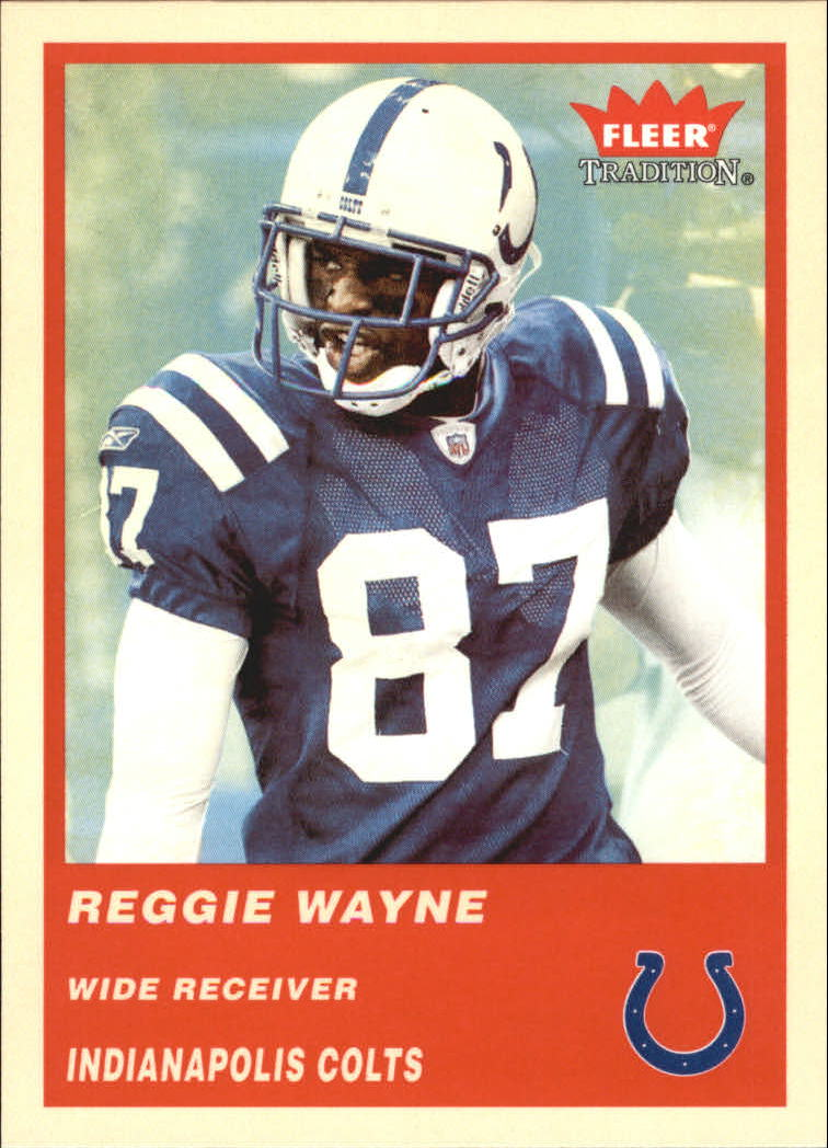 2004 Fleer Tradition #140 Reggie Wayne