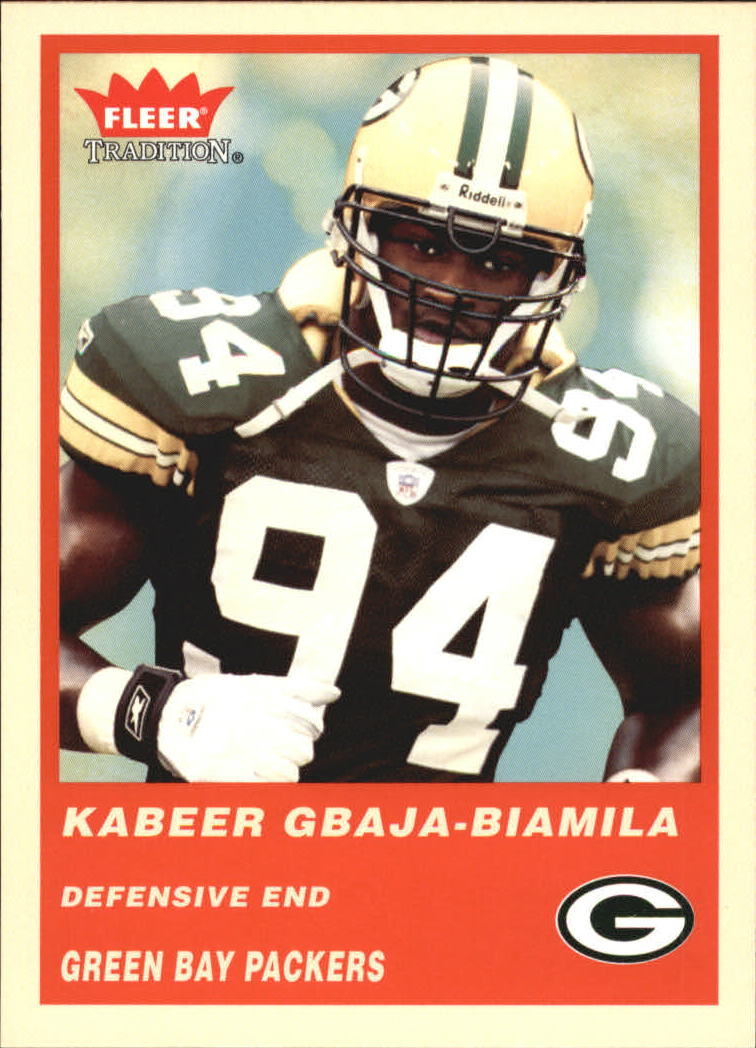 2004 Fleer Tradition #205 Kabeer Gbaja-Biamila