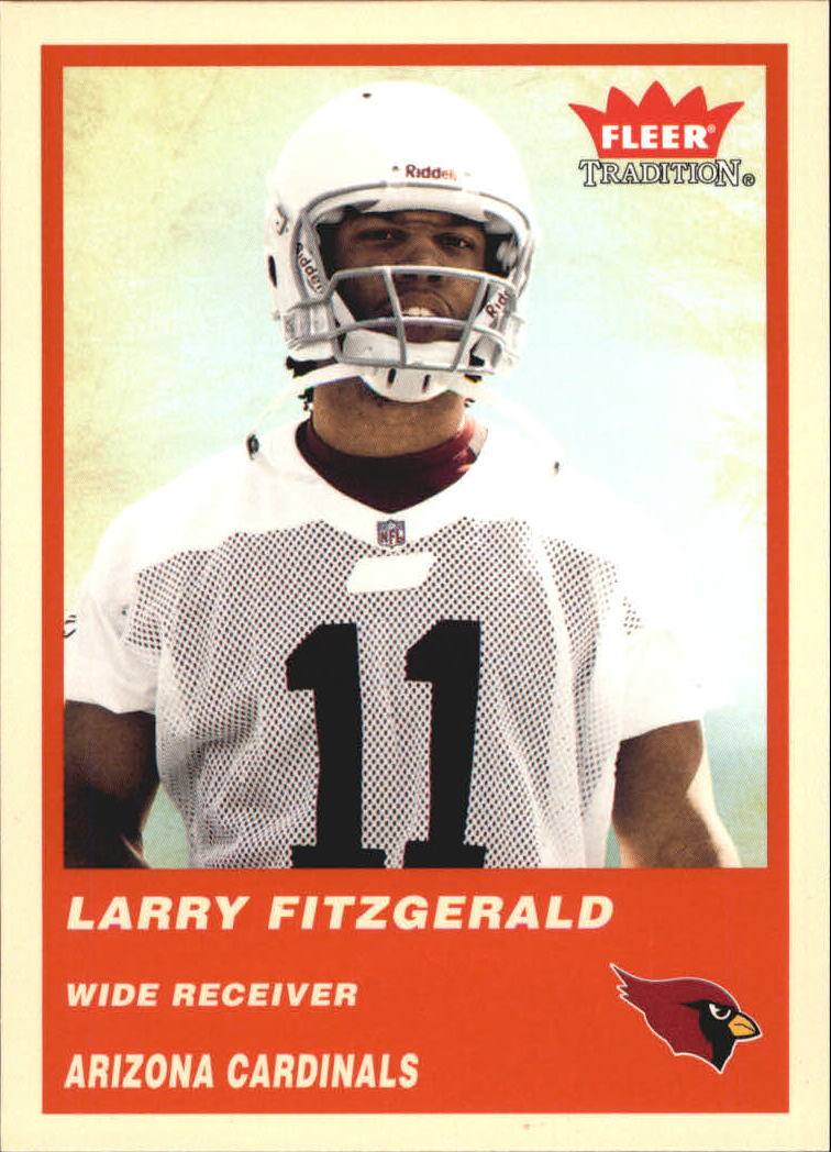 2004 Fleer Tradition #332 Larry Fitzgerald RC