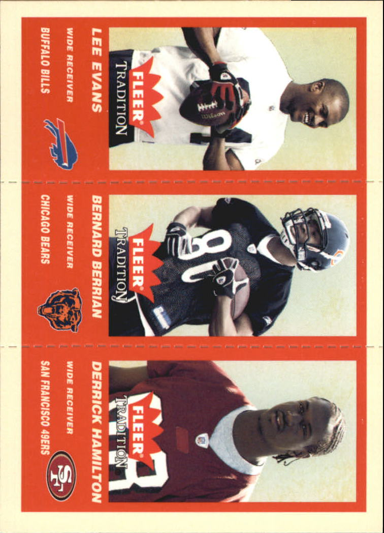 2004 Fleer Tradition #353 Lee Evans RC/Bernard Berrian RC/Derrick Hamilton RC