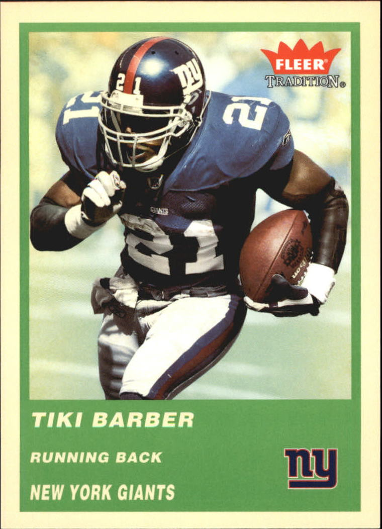 2004 Fleer Tradition Green #252 Tiki Barber