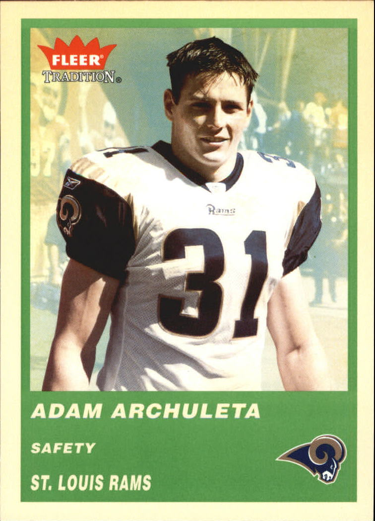 2004 Fleer Tradition Green #275 Adam Archuleta