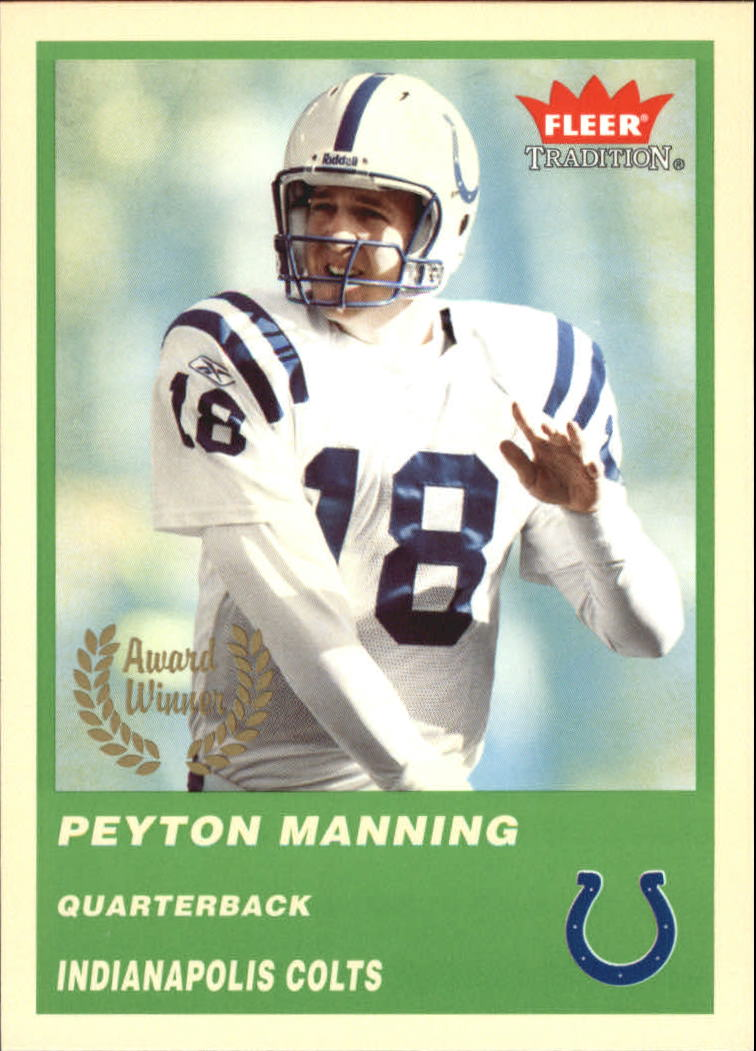 2004 Fleer Tradition Green #325 Peyton Manning AW