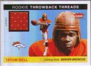 2004 Fleer Tradition Rookie Throwback Threads Jerseys #TTTB Tatum Bell