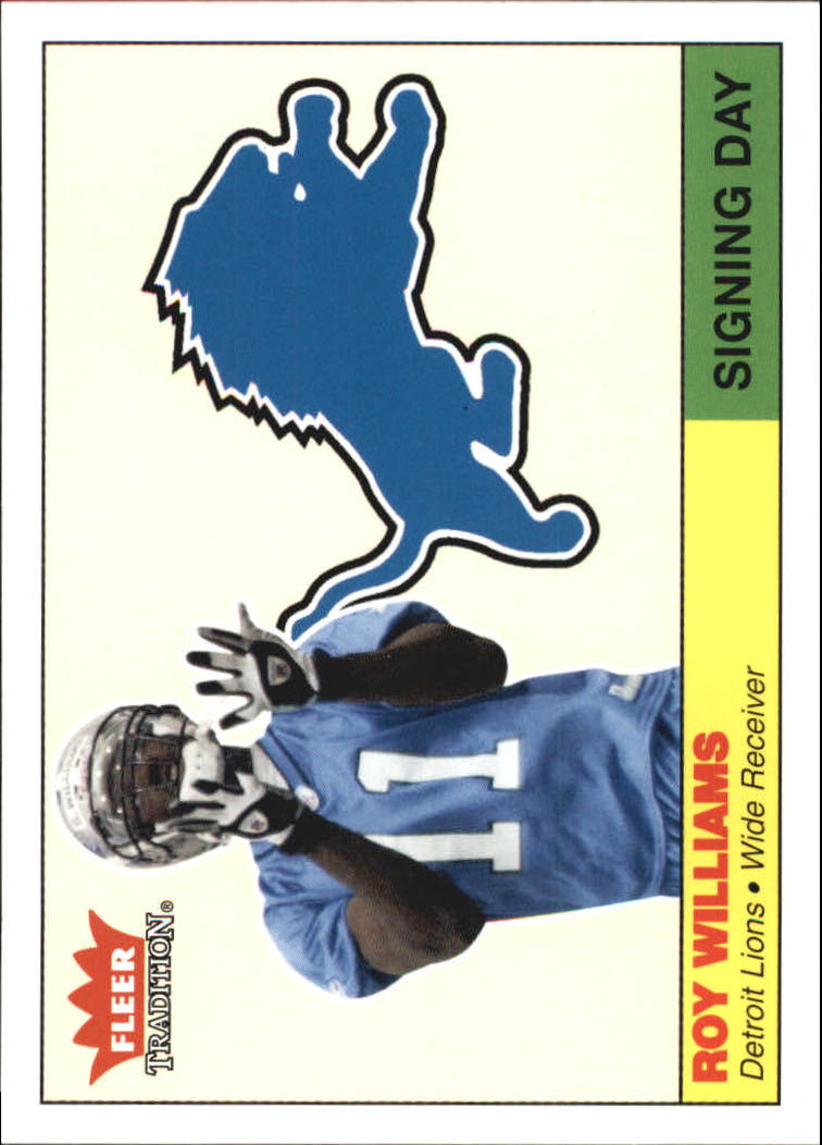 2004 Fleer Tradition Signing Day #5SD Roy Williams WR front image