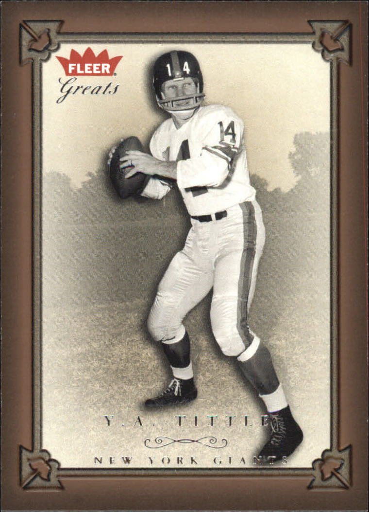 2004 Greats of the Game #17 Y.A. Tittle