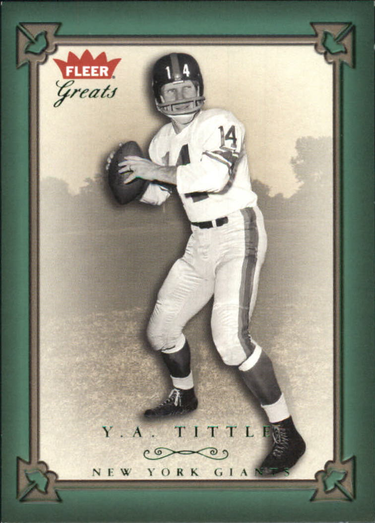 2004 Greats of the Game Green/Red #17 Y.A. Tittle