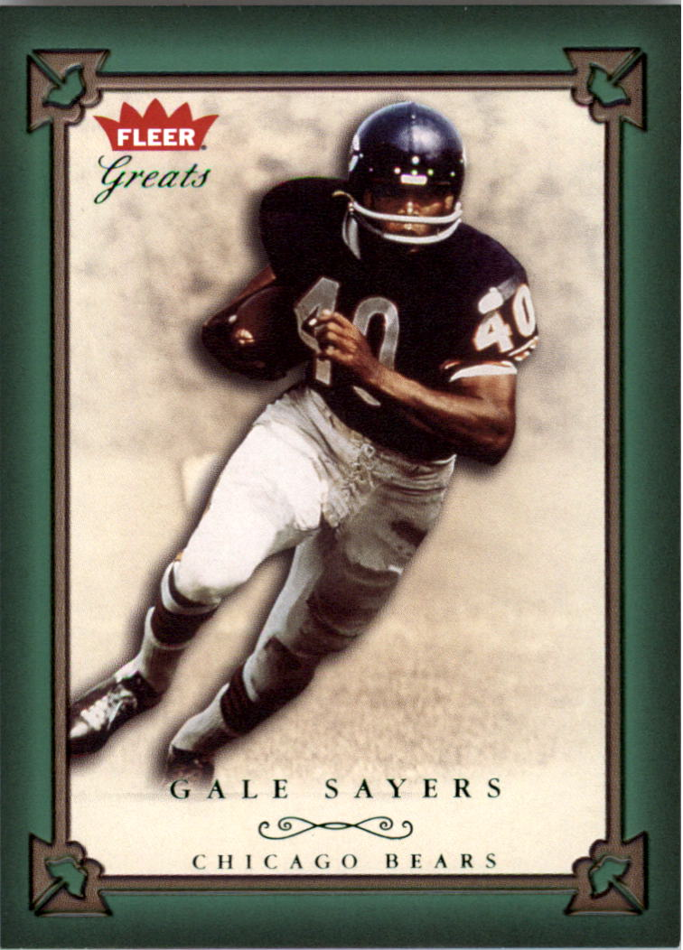 2004 Greats of the Game Green/Red #36 Gale Sayers