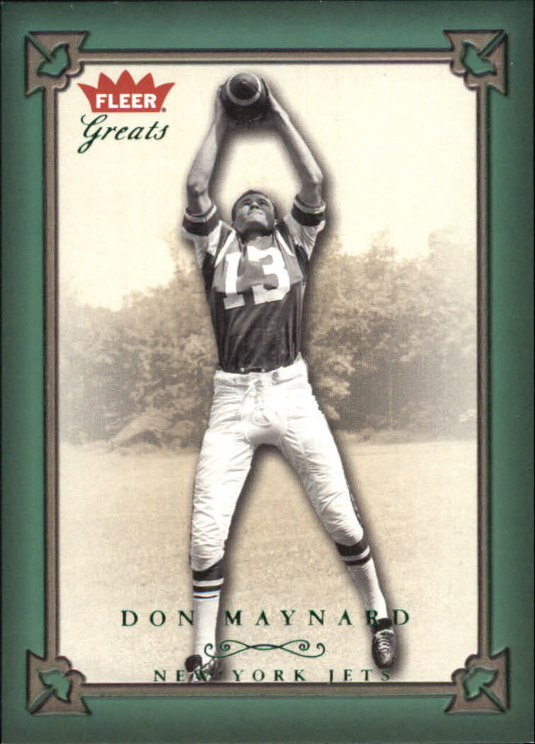 2004 Greats of the Game Green/Red #40 Don Maynard