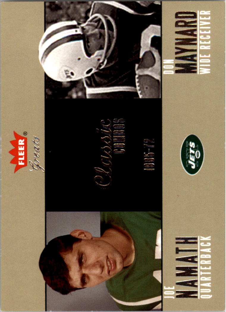 2004 Greats of the Game Classic Combos #8CC Joe Namath/1965/Don Maynard