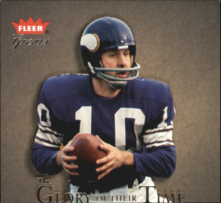 2004 Greats of the Game Glory of Their Time #GOT25 Fran Tarkenton/1975