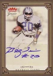 2004 Greats of the Game Gold Border Autographs #BS2 Billy Sims