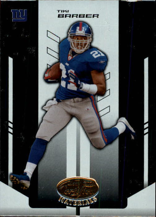 2004 Leaf Certified Materials #81 Tiki Barber