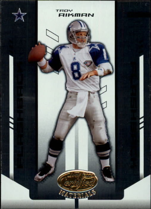 2004 Leaf Certified Materials #132 Troy Aikman FLB