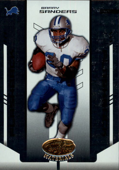 2004 Leaf Certified Materials #134 Barry Sanders FLB front image