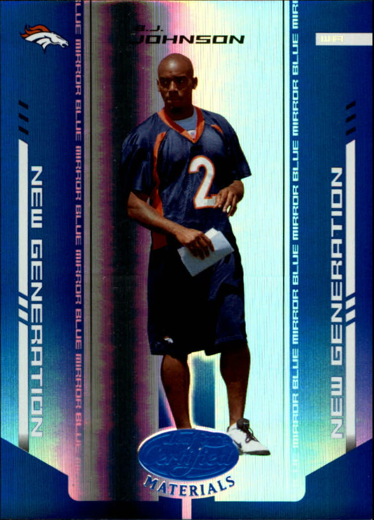 2004 Leaf Certified Materials Mirror Blue #154 B.J. Johnson