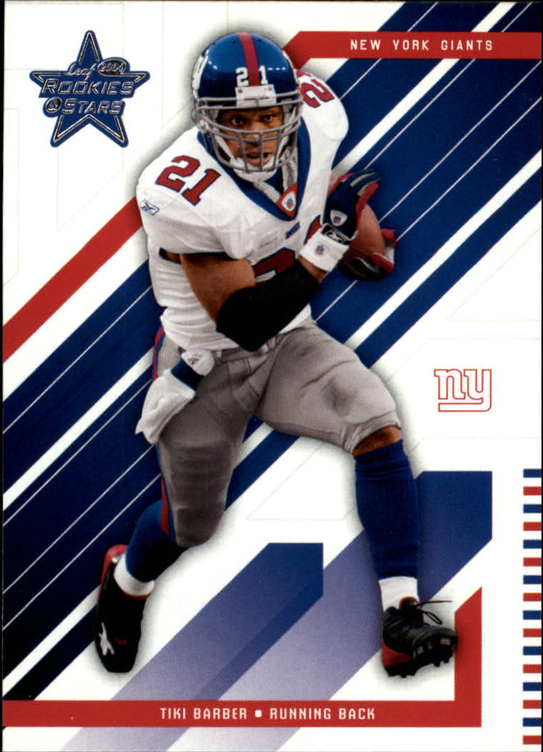 2004 Leaf Rookies and Stars #62 Tiki Barber