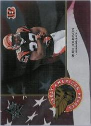 2004 Leaf Rookies and Stars Great American Heroes Red #GAH14 Rudi Johnson